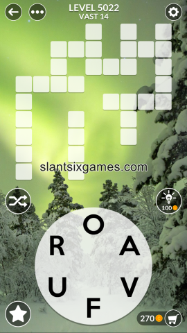 Wordscapes level 5022