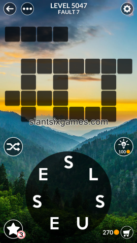 Wordscapes level 5047