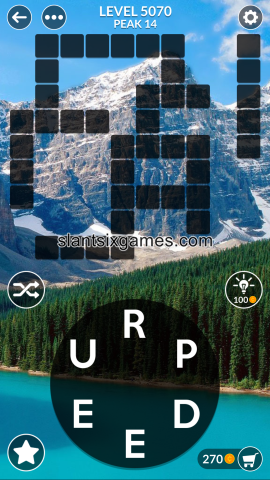 Wordscapes level 5070