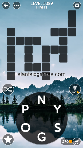Wordscapes level 5089