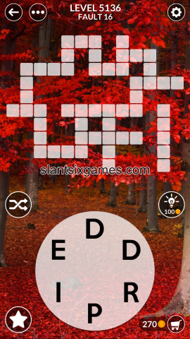 Wordscapes level 5136