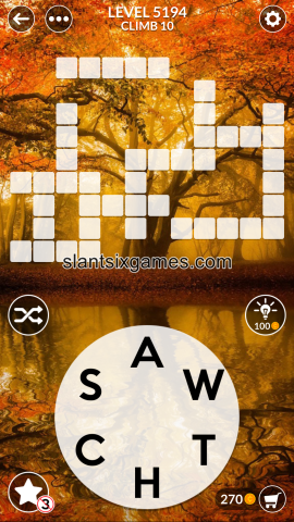 Wordscapes level 5194