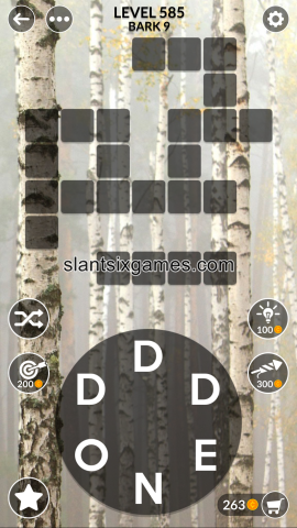 Wordscapes level 585