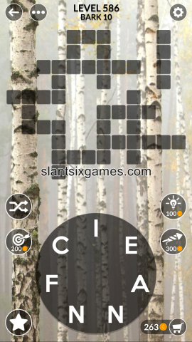 Wordscapes level 586