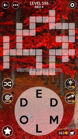 Wordscapes level 596