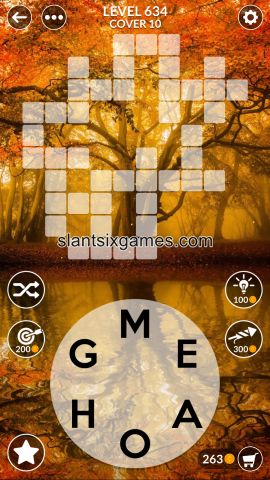 Wordscapes level 634