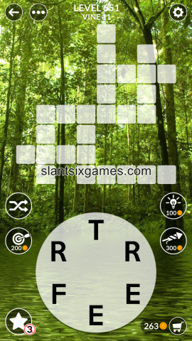 Wordscapes level 651