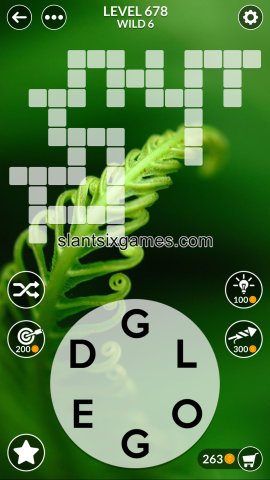 Wordscapes level 678