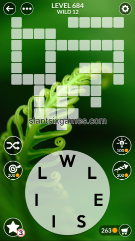 Wordscapes level 684