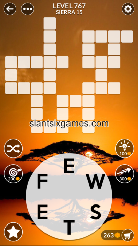 Wordscapes level 767