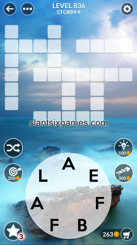 Wordscapes level 836