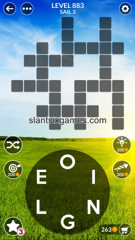 Wordscapes level 883