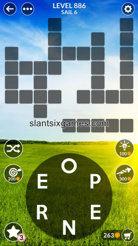 Wordscapes level 886