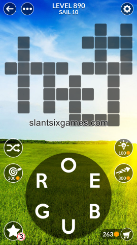 Wordscapes level 890