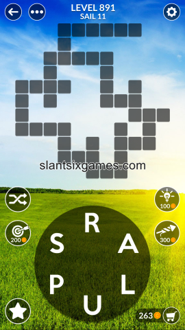 Wordscapes level 891