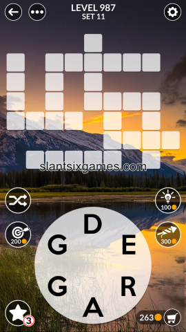 Wordscapes level 987