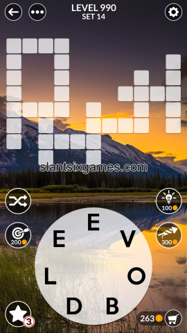 Wordscapes level 990